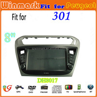 8inch 1din special car dvd player for peugeot 301 with GPS/3g/radio/Bluetooth/IPOD DH8017