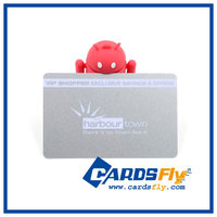 Customize PVC plastic club membership loyalty card/club VIP card with blank signature