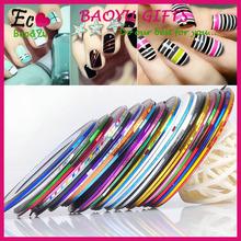 DIY Nail Art Decoration Thin Self Adhesive Various Color Nail Stripping Tape