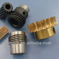 small micro steel brass worm gears set as step up gear, differential gear