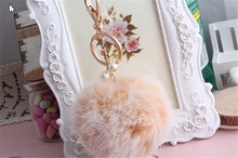 Real Rabbit Fur Pom Pom Ball Cat Toy - Colorful Flying Fuzz Balls