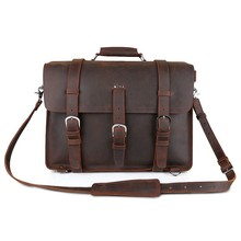Kattee's Top Quality Crazy Horse Leather Men's Briefcase Backpack Laptop Multi-purpose Bag #XZ110