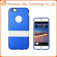 tpu+pc cover case for iphone 6,for iphone 6 case with kickstand