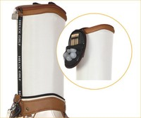 Helix promotional promotional golf bag with customized log / cheap pu golf bag with wheels / customersize