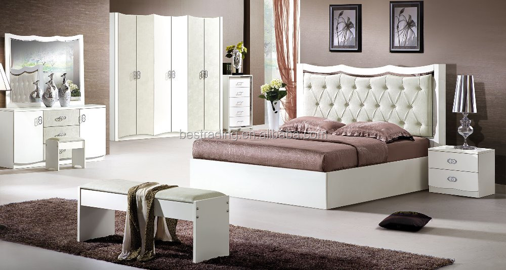 design luxury king size full leather double bed bedroom funiture