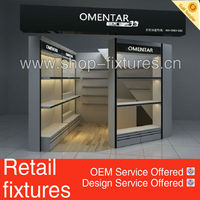 plywood belt and bag display stand with LED light