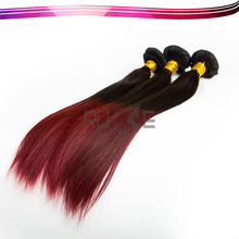 Hot Selling no chemical 100 human hair, two tone Peruvian remy Ombre kanekalon braiding Hair extensios wholesale