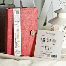 Colourful patent cloth case notebook