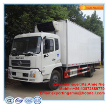 Dongfeng Tianjin Euro4 diesel 180hp fiberglass refrigerated cargo van