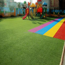 Supply Kindergarden Specilized Colorful Truck+Evergreen Grass Comfortable Turf Carpet