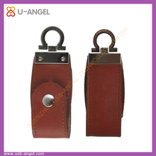 Oem Promotion Gift the Cheapest Leather USB Flash Drive