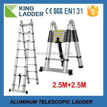 Telescopic Step Ladders Feature and Aluminum Material best folding ladder