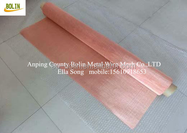 99.99% pure copper wire mesh fabric clothes for curtains and windows and walls!.jpg