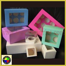 Customized Paper Cupcake Box (1 to 24 cups),cupcake packaging box