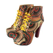 VT310 Sunflower printing women shoes high heels 2015
