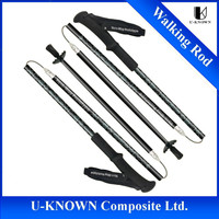 High Quality Collapsible Carbon Fiber Walking Rod/Pole/Stick