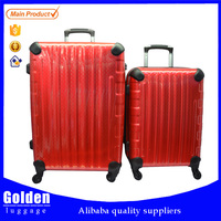 Chinese factory sale high end luggage trolley with different styles and colors luggage suitcase set