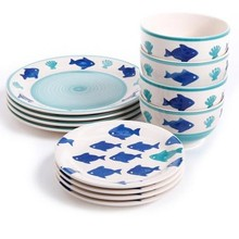 plastic Products Melamine bowl and plate dinner Set