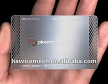 2012 Precise etched business card