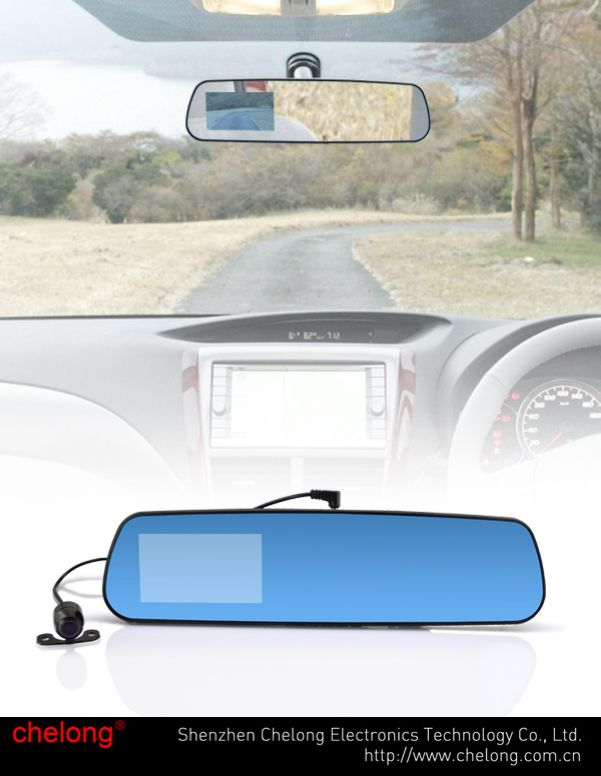 Safety guard Android 4.0.3 GPS Bluetooth Wifi Car dvr rearview mirror navigation