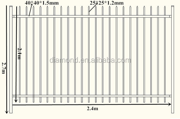 picket fence drawing. Steel Fence Drawing Picture .jpg Picket