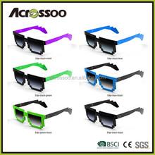 Promo Revo Neon pixel sunglasses ,Retro Neon color Video Game 8-bit Pixel Sunglasses