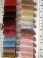 2015 Heavy dull satin fabric for wedding dress, Swatch for 260g/m bridal satin, Hongway satin ready goods color chart