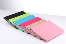 top selling folio case for ipad 2 3 4 good feel fashion design tablet cheapest price factory supply