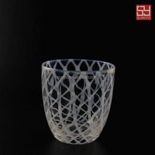 Sodalime white line drinking glass manufacture customized size high quality lead free crystal