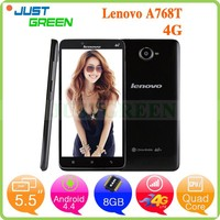 Lenovo A768T 5.5 Inch IPS Screen phone Android 4.4 Qualcomm MSM8916 Quad Core GPS WIFI mobile phone