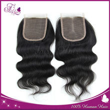 Natural color 4x4 top virgin brazilian hair closure hair body wave lace closures