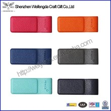 Multicolor high quality leather vinyl pen case for notebook