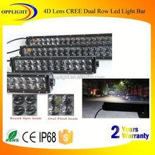 led light bar off road 288w 4d optic reflector dual row light bar 3watt surface mounted led