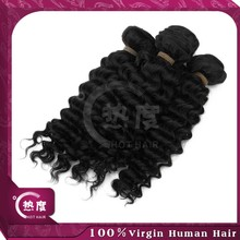 New selling deep wave aaa quality remy hair extension no shedding original brazilian human hair