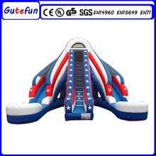 GUTEFUN adult size outdoor water park games new design strong style color inflatable slide for kids fun