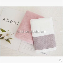 Brand company promotion gift towel high quality 100% cotton colorful face towels