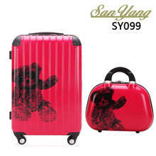 Women Travel Trolley Luggage Bag ABS+PC Aircraft Wheels Luggage Sets