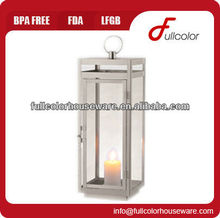 new stainless steel lantern with glass