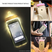 Fashion Style Design Baby Milk Bottle Soft TPU Case for iPhone 6