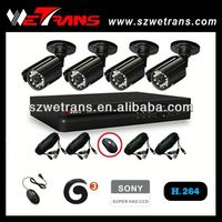 WETRANS 4CH CCTV Analog System, Camera and DVR, Economical kit CCTV Video Distributor