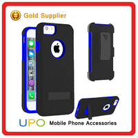 [UPO] Fashion Belt Clip Tough Rugged Hybrid Case for Iphone 6 6s with Kickstand