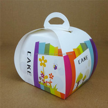 Hot Sell Cardboard Carrying Handle Bire Cheese Cake Boxes for Packaging