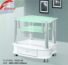 modern glass top mdf wood lcd plasma tv stand