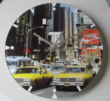2015 new design hot selling decorative round glass wall clock