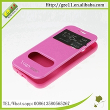 PU leather PC mobile phone metal case for Samsung Galaxy i8262