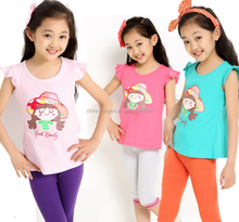 feic2 2015 wholesale fashion summer hot sale new cotton cartoon baby girl picture T-shirt 3 colors