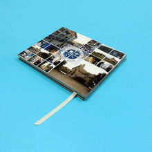 2015 Hardcover book with lamination A4 size single black color inside printing company