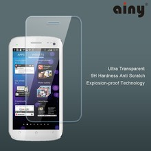 Ainy hot sale new products for 2015 ulter clear Tempered Glass Screen Protector For Micromax A120 0.33mm