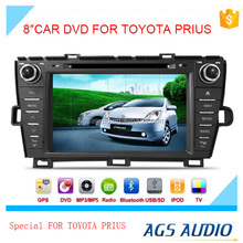 8 inch fixed digital panel car DVD player for TOYOTA PRIUS with GPS TV and bluetooth