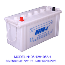 N105 Dry Charged Automotive Battery 12V/105AH